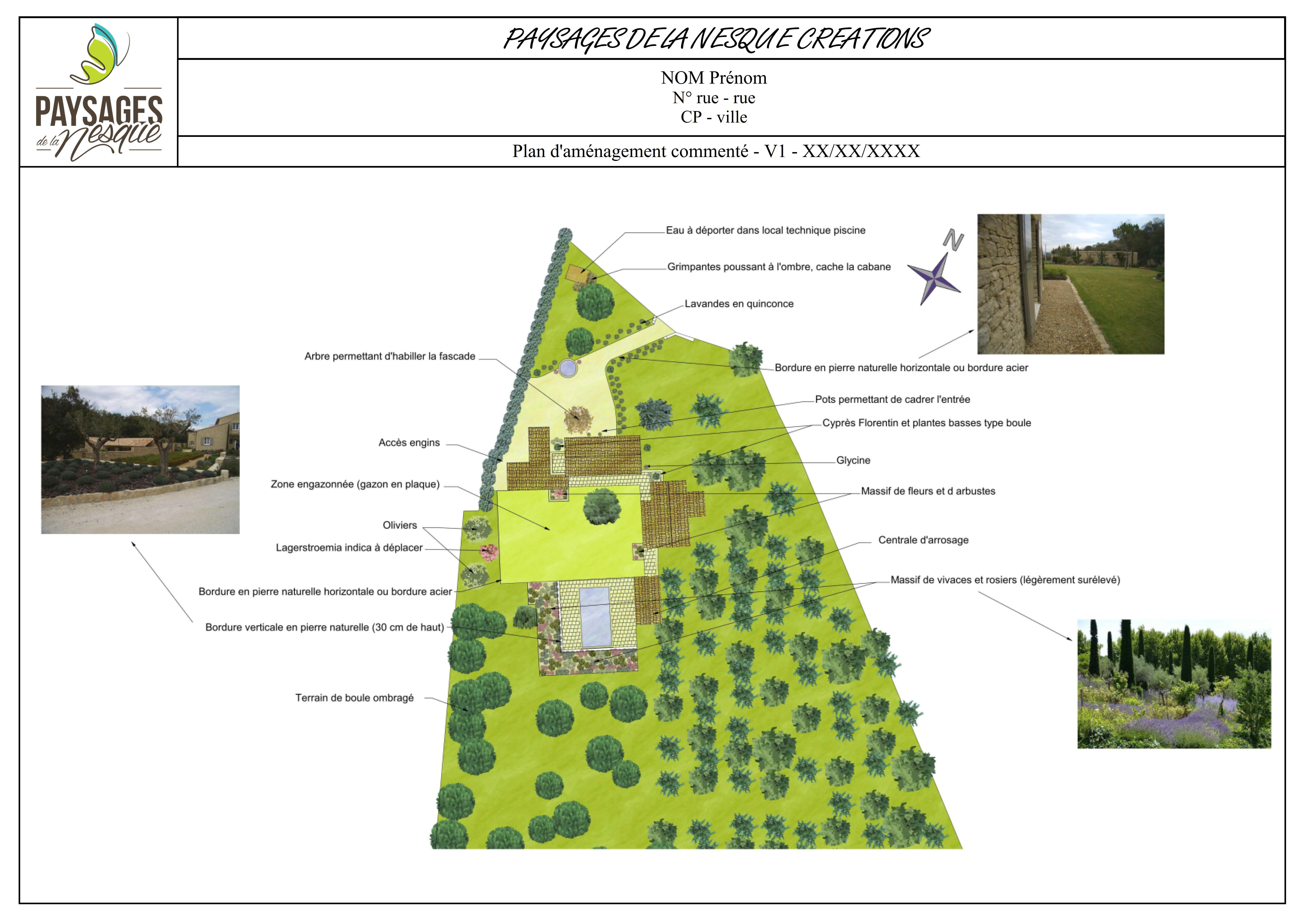 plan jardin paysagiste venasque